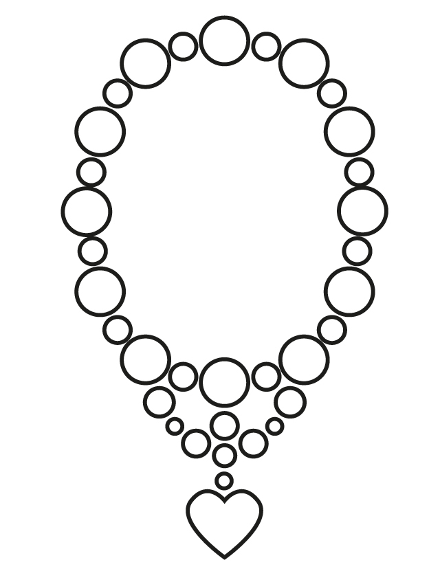 Colouring Pages Jewellery : Wedding coloring pages: Wedding necklace