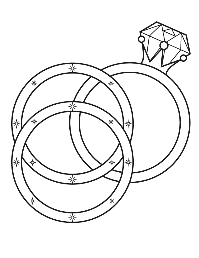 coloring pages of rings - photo#5