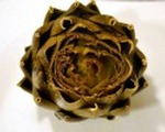 Garlic baked artichokes with fire roasted aioli