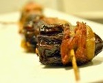 Gorgonzola stuffed bacon wrapped dates
