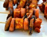 Spicy curry tofu skewers