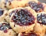 Crunchy peanut butter and jelly thumbprints