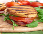 BLT with Cucumber, Red Onion and Basil Mayonnaise