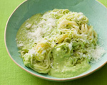 Angel Hair Pasta with Almond Pesto