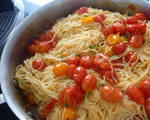 Angel Hair with Sauteed Cherry Tomatoes