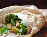 Apple, Arugula and Gouda Wraps