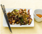 Asian Cabbage and Shiitake Mushroom Stir-Fry