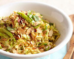 Asian Cabbage Salad with Peanut Dressing