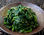 Asian Spinach with Toasted Sesame Oil