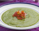 Asparagus Soup with Prosciutto