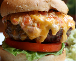 Bacon and Cheese Burger with Pimentos