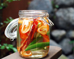 Bacon and Chile Pepper Infused Vodka