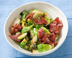 Bacon Braised Brussels Sprouts