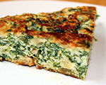Baked Spinach Frittata with Ham