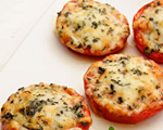 Baked Tomatoes with Parmesan Cheesev