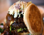 English Muffin BBQ Burger