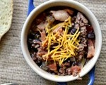 Smoked beef and bacon chili 