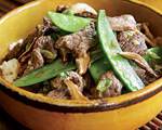 Beef Stir-Fry with Shiitake Mushrooms and Snow Peas