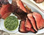 Beef Tenderloin with Herb Sauce  