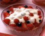 Berries In Custard Sauce