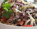 Black Bean Cabbage Salad with Creamy Dressing