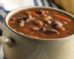 Black-Eyed Peas and Bacon Soup