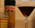 Sexy Black Manhattan Cocktail