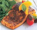 Grilled Blackened Salmon with Mango BBQ Sauce