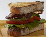 BLT with Avocado and Pink Chili Mayo