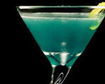 Blue Bird Martini Cocktail