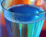 Blue Champagne New Year's Cocktail