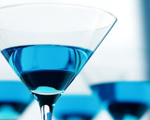 Blue Curaao Martini