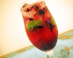 Blueberry Caprioska Cocktail