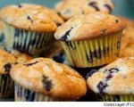 Peachy Blueberry Muffins