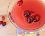 Bourbon and Fresh Cranberry Juice Cocktail