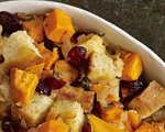 Bread Stuffing with Cranberries and Sweet Potatoes   