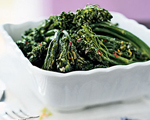 Broccolini with Pecan Butter Sauce