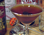 Brown Manhattan Cocktail