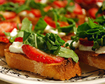 Bruschetta with Strawberries and Goat Cheese