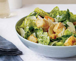 Caesar Salad with Crispy Tofu Croutons