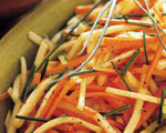 Carrot and Turnip Salad with Lemon-Honey Glaze