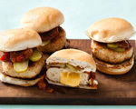 Cheddar Stuffed Turkey Sliders