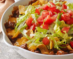 Cheesy Beef and Corn Chip Skillet