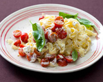 Cherry Tomato and Goat Cheese Pasta