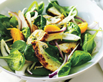 Chicken, Peach and Spinach Salad