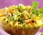 Chicken Salad with Cucumber and Melon