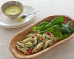 Chicken Salad with Roasted Red Bell Peppers and Aioli Sauce