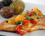 Chicken with Orange Salsa