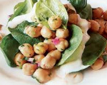 Chick-pea and Spinach Salad