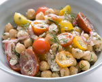 Chickpeas with Red Onion, Feta, Dill & Lemon
